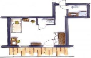 Vollererhof-Zimmer-Skizze