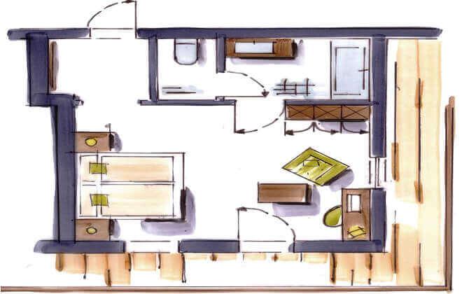 رسم غرفة فوليريرهوف