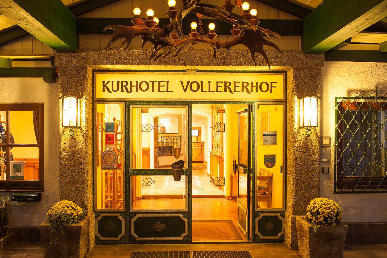 Вход в отель Vollererhof