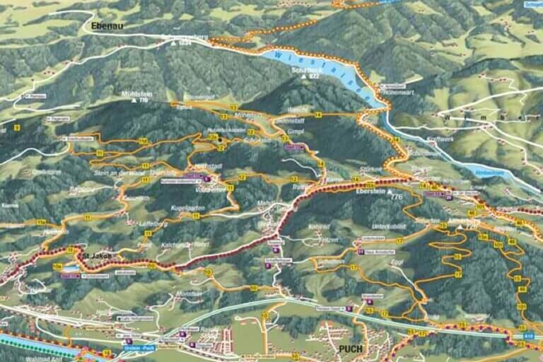 Mappa escursionistica del Vollererhof